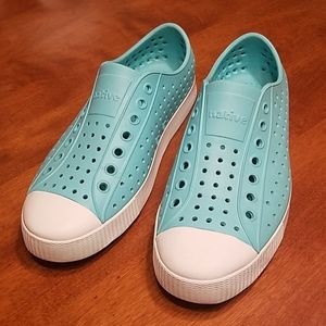 Native turquoise  blue shoes
